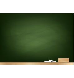 Blackboard background chalk and blackboard eraser vector