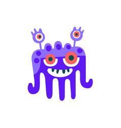 cute blue cartoon monster fabulous incredible vector image