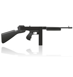 gangster gun Thompson 02 vector image