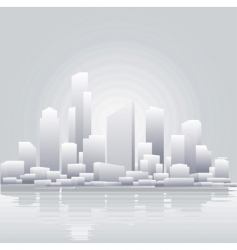 grey city vector image vector image