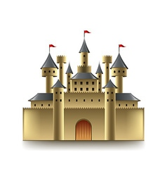 Old castle isolated on white vector image vector image