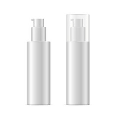 Realistic template blank white spray cosmetic vector