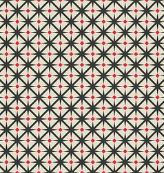 black and red rhombus seamless geometric pattern vector image
