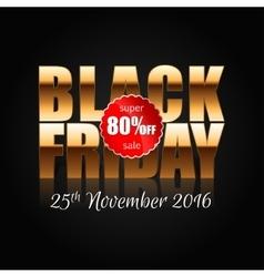 Black Friday 5 vector image vector image