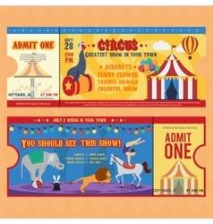 Circus Tickets Templates vector image