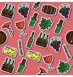 Colored wine pattern vector image