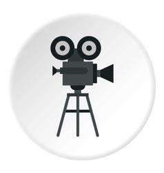 Retro film camera icon flat style vector image