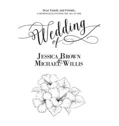 Wedding template vector image vector image