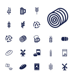 22 wheat icons vector