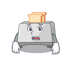 A picture bread toaster having an afraid face vector