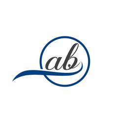 Ab logo vector