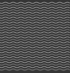 abstract monochrome waves seamless pattern vector image