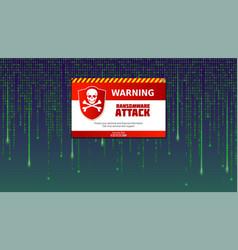Alert message virus detected ransomware attack vector