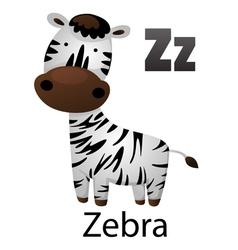 Alphabet Z with zebra vector image