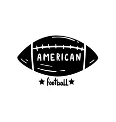 American football ball hand drawn retro design vector