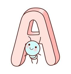 An alphabet with ant vector
