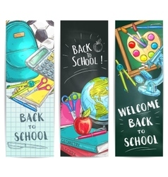 Back to school welcome banner backgrounds vector