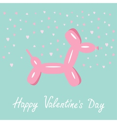 Balloon dog valentines day Flat design vector