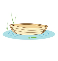 Boat on a pond vector