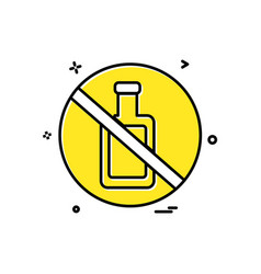 bottle not allowed icon design vector image