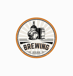 brewing logo template vector image