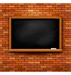 Brick wall with a blackboard vector image
