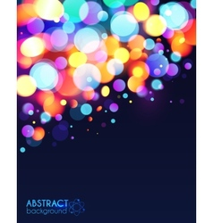 Bright colorful bokeh light effect abstract vector