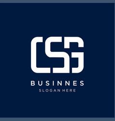 C s g letter abstract monogram logo design vector