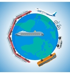 Cartoon fast kinds of transportation vehicles vector image