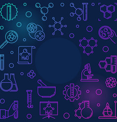 chemistry science colored line frame vector image