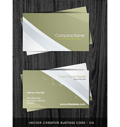 Clean business card template vector