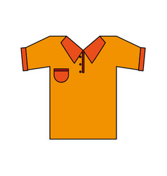color image cartoon golf t-shirt sport wear vector image