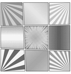 comic book monochrome template vector image