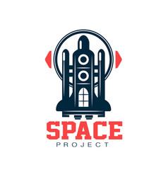 Creative logo design of cosmic shuttle scientific vector