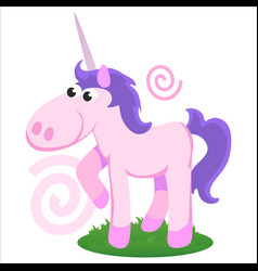 cute unicorn isolated set magic pegasus flying vector image
