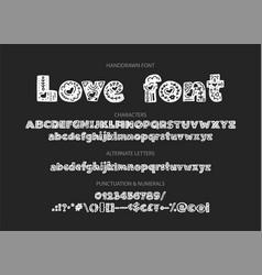 decorative valentines display font vector image