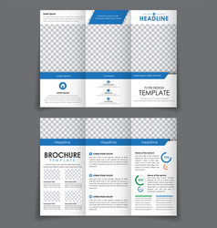 Design triple brochure with blue elements vector