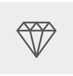 Diamond thin line icon vector