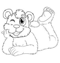 Doodle animal for bear cub vector