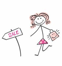 Doodle sale girl vector