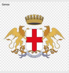 Emblem genoa vector