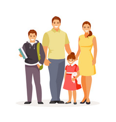 family with children vector image