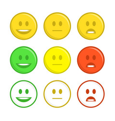 feedback emoticon icons vector image