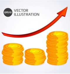 Finance Growth Abstract vector image