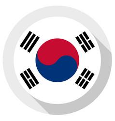 flag south korea round shape icon on white vector image