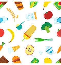 flat pattern of cartoon food for smoothie with vector image vector image