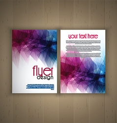 Flier design on wood background 2701 vector