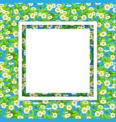 floral seasonal white frame vector image