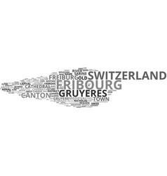 Fribourg word cloud concept vector