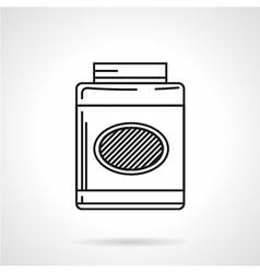 Gainer jar black line icon vector image